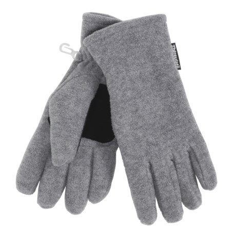 Grand Sierra Super Soft Fleece Gloves - Insulated (For Women) in Heather Grey