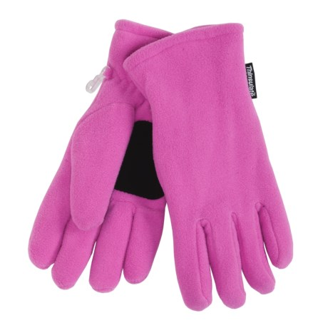 Grand Sierra Super Soft Fleece Gloves - Insulated (For Women) in Light Pink