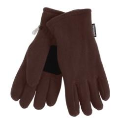 Grand Sierra Super Soft Fleece Gloves - Insulated (For Women) in Black