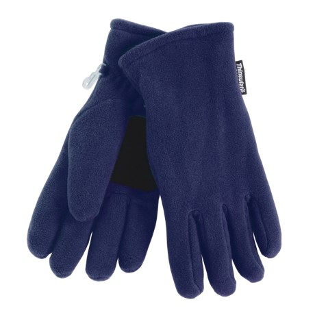 Grand Sierra Super Soft Fleece Gloves - Insulated (For Women) in Navy