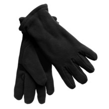 Grand Sierra Super Soft Fleece Gloves - Insulated, Leather Palm Patch (For Women) in Black - Closeouts