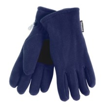 Grand Sierra Super Soft Fleece Gloves - Insulated, Leather Palm Patch (For Women) in Navy - Closeouts