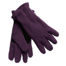 Grand Sierra Super Soft Fleece Gloves - Insulated, Leather Palm Patch (For Women) in Purple - Closeouts