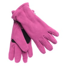 Grand Sierra Super Soft Fleece Gloves - Insulated, Leather Palm Patch (For Women) in Rose - Closeouts