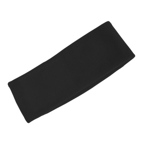 Grand Sierra Super Soft Fleece Headband - Double Layer (For Women) in Black