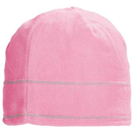 Grand Sierra Supersoft Microfleece Beanie (For Women) in Light Pink W/Grey Stitching - Closeouts