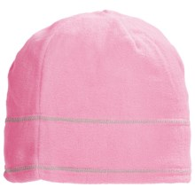 Grand Sierra Supersoft Microfleece Beanie Hat (For Women) in Light Pink W/Grey Stitching - Closeouts