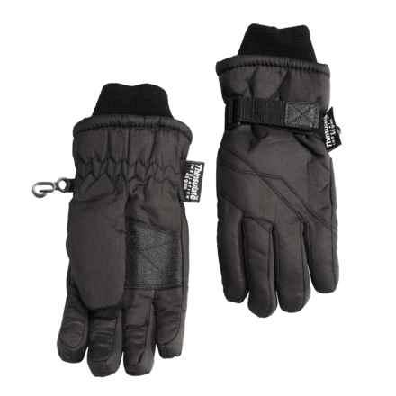 Grand Sierra Taslon Thinsulate® Gloves (For Little Boys) in Black - Closeouts
