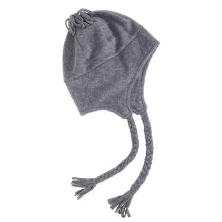 Grand Sierra Tasseled Super Soft Beanie Helmet - Fleece (For Women) in Grey Heather - Closeouts