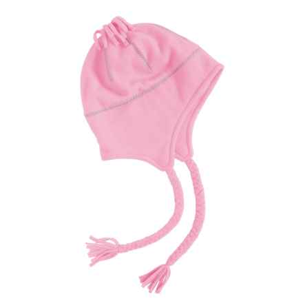 Grand Sierra Tasseled Super Soft Beanie Helmet - Fleece (For Women) in Light Pink - Closeouts