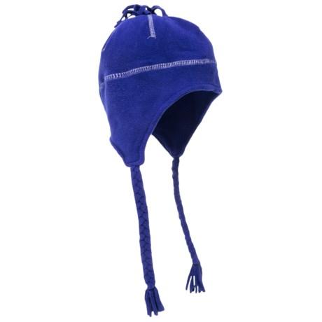 Grand Sierra Tasseled Super Soft Beanie Helmet - Fleece (For Women) in Navy