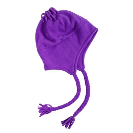 Grand Sierra Tasseled Super Soft Beanie Helmet - Fleece (For Women) in Purple