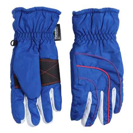 Grand Sierra Thinsulate® Gloves - Waterproof, Insulated (For Big Girls) in Blue/Pink - Closeouts