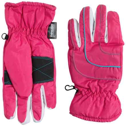 Grand Sierra Thinsulate® Gloves - Waterproof, Insulated (For Big Girls) in Pink/Light Blue - Closeouts