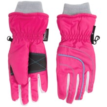 Grand Sierra Thinsulate® Ski Gloves - Waterproof, Insulated (For Little Girls) in Pink/Light Blue - Closeouts