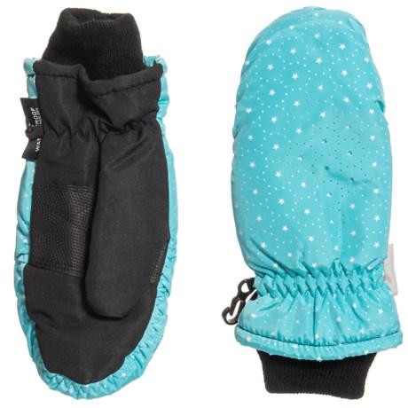 Grand Sierra Thinsulate® Ski Mittens - Insulated (For Little Girls) in Blue/White