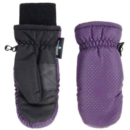 Grand Sierra Thinsulate® Ski Mittens - Insulated (For Little Girls) in Purple W/Lime - Closeouts