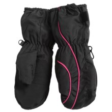 Grand Sierra Thinsulate® Snow Mittens - Insulated (For Toddlers) in Black/Hot Pink - Closeouts