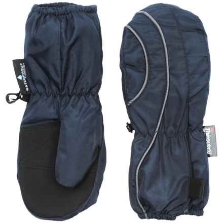 Grand Sierra Thinsulate® Snow Mittens - Insulated (For Toddlers) in Navy/Grey - Closeouts