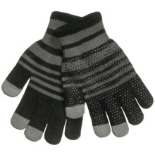 Grand Sierra Touchscreen Gloves (For Youth) in Black/Sage - Closeouts