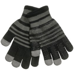 Grand Sierra Touchscreen Gloves (For Youth) in Black/Sage