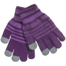 Grand Sierra Touchscreen Gloves (For Youth) in Purple/Light Purple - Closeouts