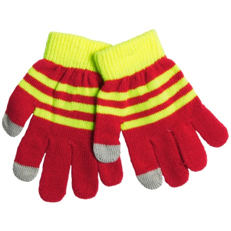 Grand Sierra Touchscreen Gloves (For Youth) in Red/Yellow
