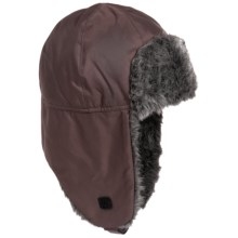 Grand Sierra Tusser Shell Trapper Hat - Faux Fur (For Men) in Brown - Closeouts