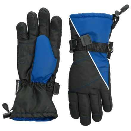 Grand Sierra Tusser Thinsulate® Ski Gloves - Insulated (For Big Boys) in Black W/Royal - Closeouts