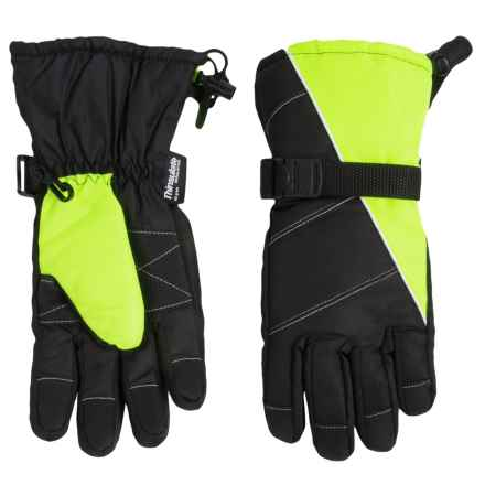 Grand Sierra Tusser Thinsulate® Ski Gloves - Insulated (For Big Boys) in Black/Yellow - Closeouts