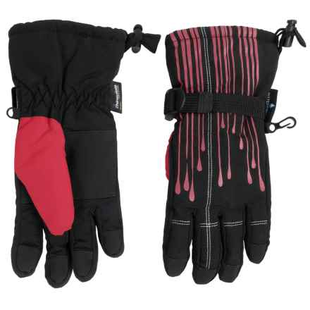 Grand Sierra Tusser Thinsulate® Snowboard Gloves - Waterproof, Insulated (For Little Boys) in Black W/Red - Closeouts
