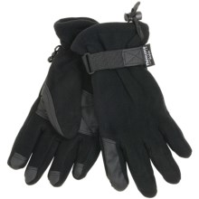 Grand Sierra Waterproof Fleece Gloves - Insulated (For Men) in Black - Closeouts