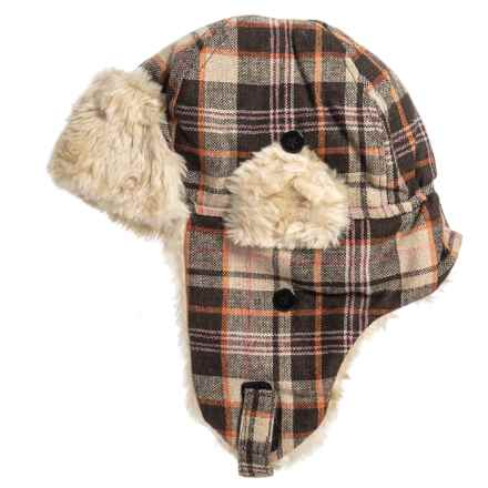 c5fe28798dc35 Grand Sierra Wool-Blend Plaid Trapper Hat (For Big Kids) in Brown -
