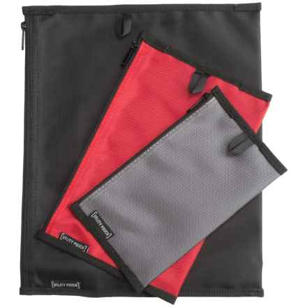 Grand Trunk Travel Utility Pouches - 3-Pack in Gray/Red/Black - Closeouts