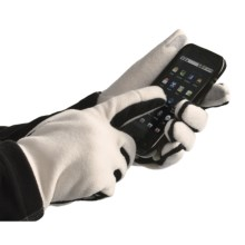 Grandoe Aphrodite Fleece Gloves - Touch-Screen Compatible (For Women) in Cream/Black - Closeouts