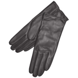 Grandoe Classique Leather Gloves - Cashmere Lining (For Women) in Brown