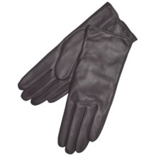 Grandoe Classique Leather Gloves - Cashmere Lining (For Women) in Brown - Closeouts