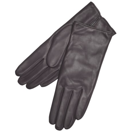 Grandoe Classique Leather Gloves - Cashmere Lining (For Women)