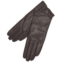 Grandoe Classique Leather Gloves - Cashmere Lining (For Women) in Chocolate Brown - Closeouts