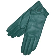 Grandoe Classique Leather Gloves - Cashmere Lining (For Women) in Teal - Closeouts