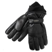Grandoe Down Gloves - Leather, Insulated (For Women)  in Black - Closeouts