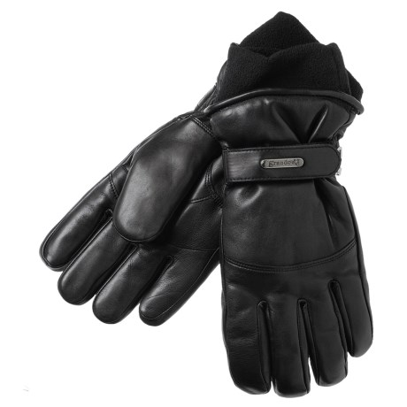 Grandoe Down Gloves - Leather, Insulated (For Women)  in Black