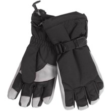 Grandoe Hybrid Gloves - Waterproof, Insulated (For Men) in Black/Stone - Closeouts