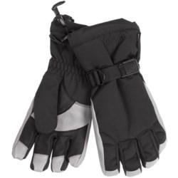 Grandoe Hybrid Gloves - Waterproof, Insulated (For Men) in Black/Palomino