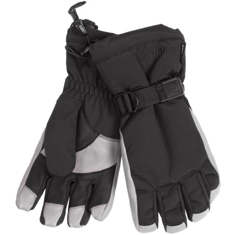 Grandoe Hybrid Gloves - Waterproof, Insulated (For Men) in Black/Stone
