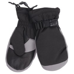 Grandoe Hybrid Mittens - Waterproof, Insulated (For Men) in Black/Stone