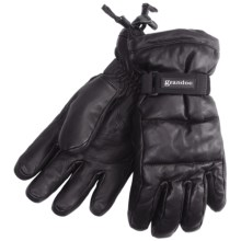 Grandoe Leather Arctic Down Gloves - Waterproof (For Men) in Black - Closeouts