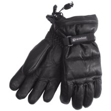 Grandoe Leather Arctic Down Gloves - Waterproof (For Women) in Black - Closeouts