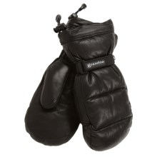Grandoe Leather Arctic Down Mittens - Waterproof, Insulated (For Women) in Black - Closeouts