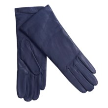 Grandoe Leather Gloves - Cashmere Lining (For Women) in New Navy - Closeouts